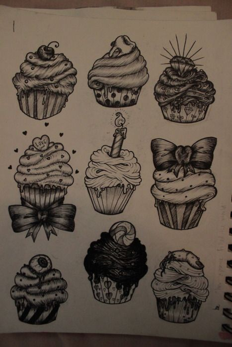 I will have a thigh piece with a cupcake, whisk, spatula, fork, diamonds, pearls,  etc!