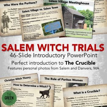 Salem Witch Trials Introductory PowerPoint -- The Crucible