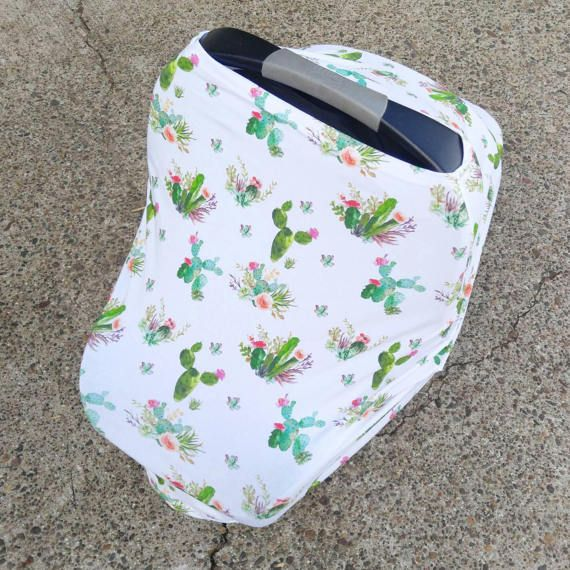 Car Seat Cover/Nursing Cover by Solchan  Stretchy Car Seat