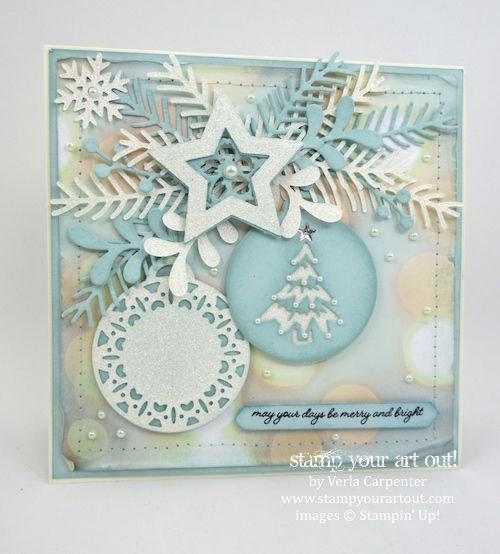Merry Tags Framelits and Pretty Pines Thinlits