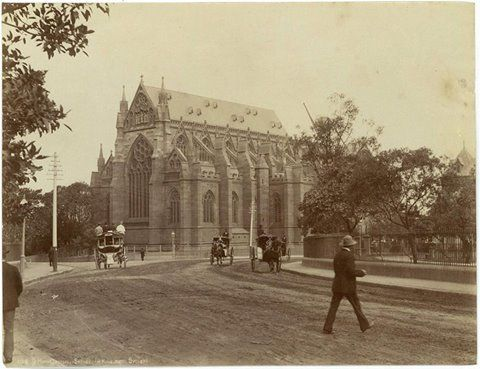 St. Mary's Cathedral, Sydney (H.King Photo Sydney) Henry King (1855-1923) was an English-born Australian photographer, known for his studies of Australian Aboriginal people and his views of Sydney. King was one of Australia's most significant early photographers.