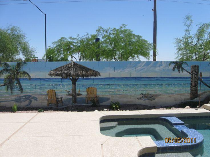 I am so doing this in my backyard!! - Arizona Block Wall Murals Gallery | I Love Murals