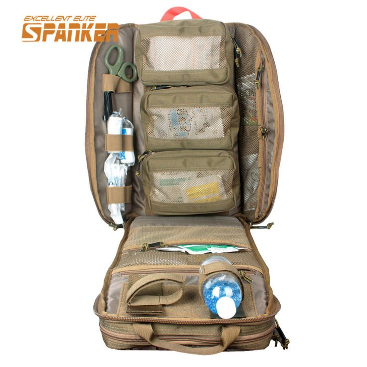 SPANKER Molle Military First Aid Kit Backpack Outdoor Travel Emergency Medical Backpack Combat Rucksack Tactical Hunting Bags #Affiliate