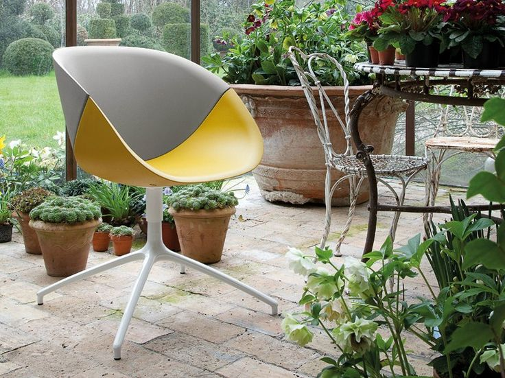 Ergonomic polyurethane chair with 4-spoke base COQUILLE-S Chairs collection Collection by DOMITALIA | design Andrea Radice