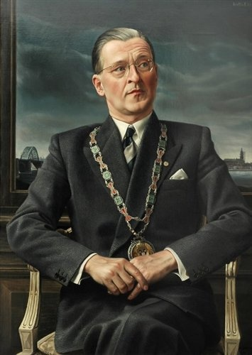 """Portret van mr. Charles M.J.H. Hustinx (Portrait of Mr Charles M.J.H. Hustinx)"", 1953 / Carel Willink (1900-1983) / Collection Gemeente Nijmegen, Nijmegen, The Netherlands"