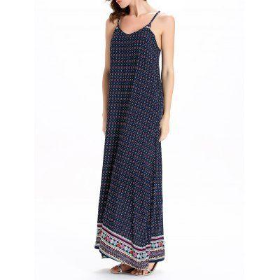 Bohemian Style Women's Print Sleeveless Dress #jewelry, #women, #men, #hats, #watches, #belts