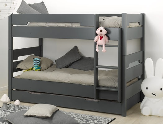 lit superpos enfant milo anthracite 90x190 en 2019 id e. Black Bedroom Furniture Sets. Home Design Ideas