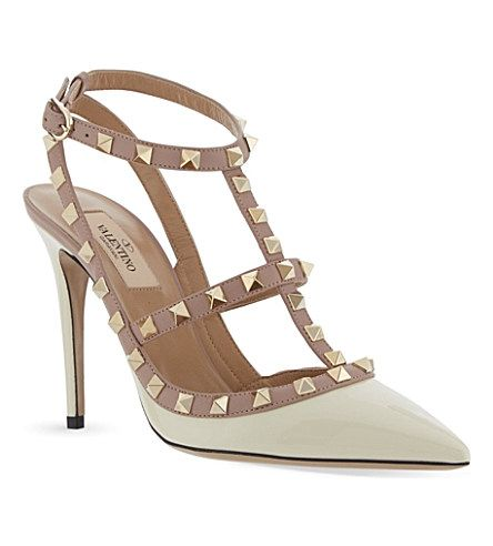 2d251bb972 Rockstud 100 patent-leather courts