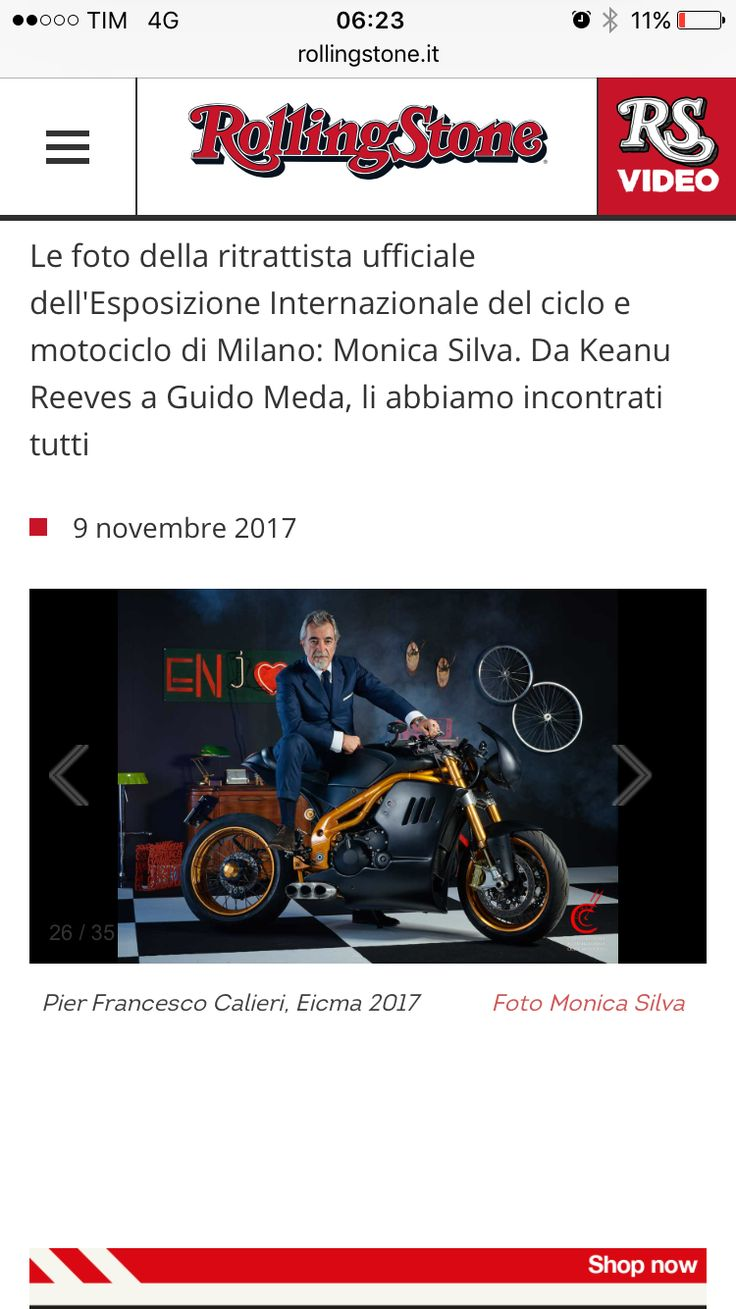 Really Proud #motorcycles #events #boss #President #chief #bigboss #rollingstonemagazine #thanks #monicasilva #eicma