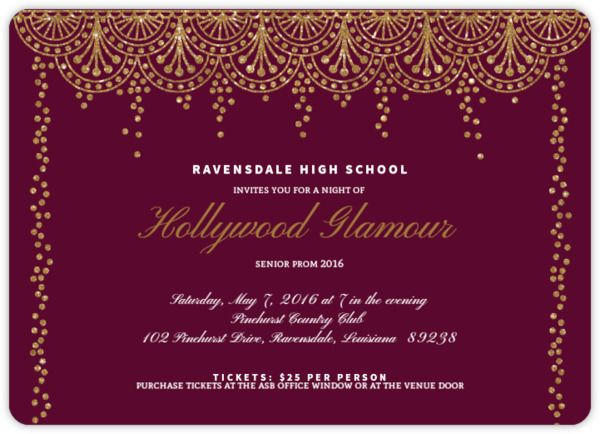 66 best Prom 2018 A Night in the Magic City images on Pinterest - prom invitation templates