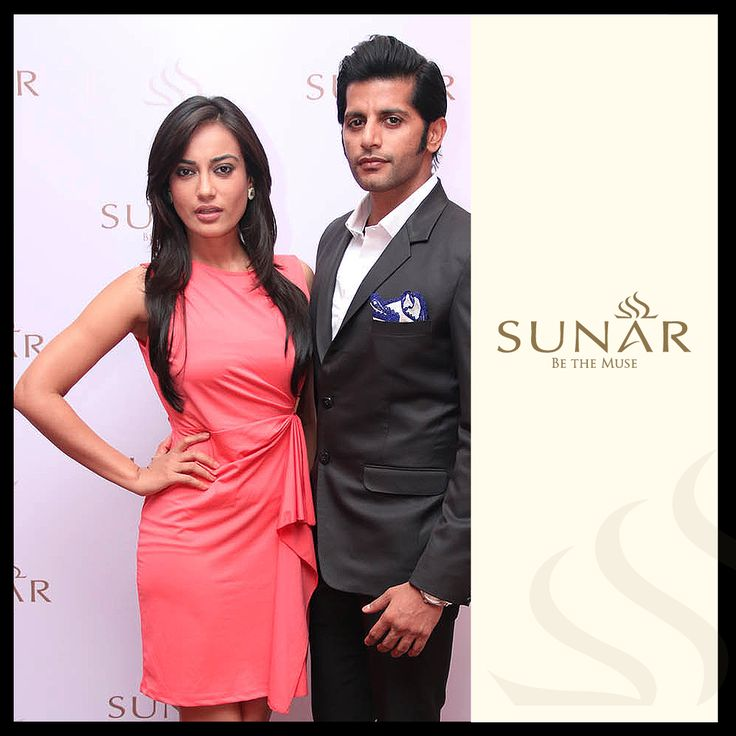 The couple who rule your hearts on screen, did it off screen too at the launch of our showroom. #KaranvirBohra #SurbhiJyoti #Stylish #Classy