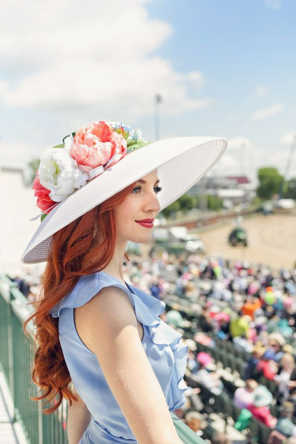 The perfect Kentucky Derby hat with pink peonies <3