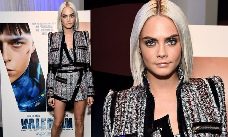 The 24-year-old wore a futuristic looking ensemble to the Los Angeles event on Monday.