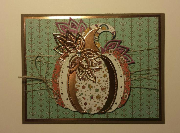 Stampin' Up! Stitched Framelits and Paisleys & Posies. Handmade by DesertStamperPatti