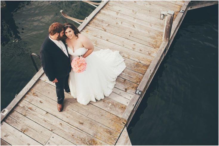 Wedding couple on the dock at the Hotel Eldorado during nautical wedding \ Joelsview Photography