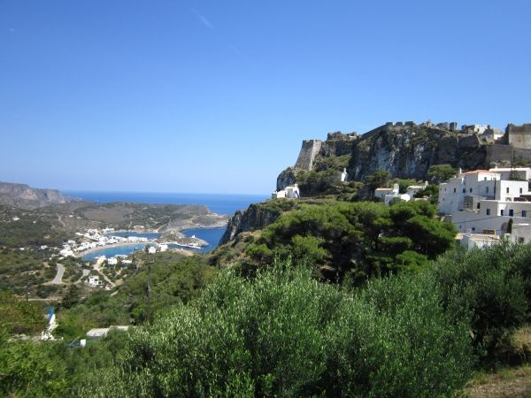 Castle of Chora with view to Kapsali beach