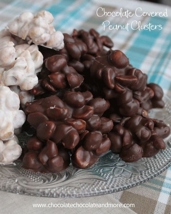 Chocolate Covered Peanut Clusters-the easiest chocolate treat you'll ever make!