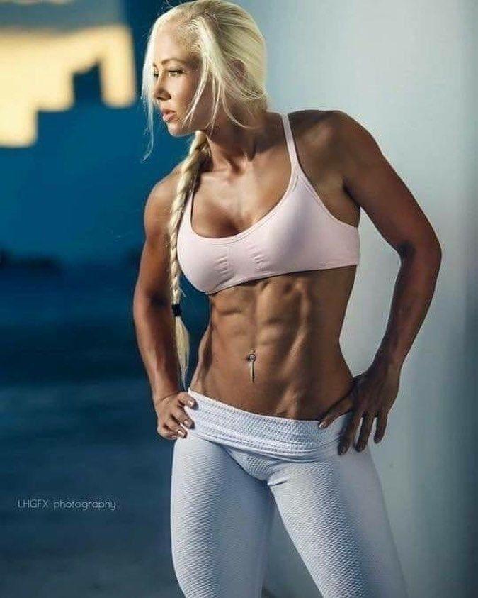 Blonde girl posing