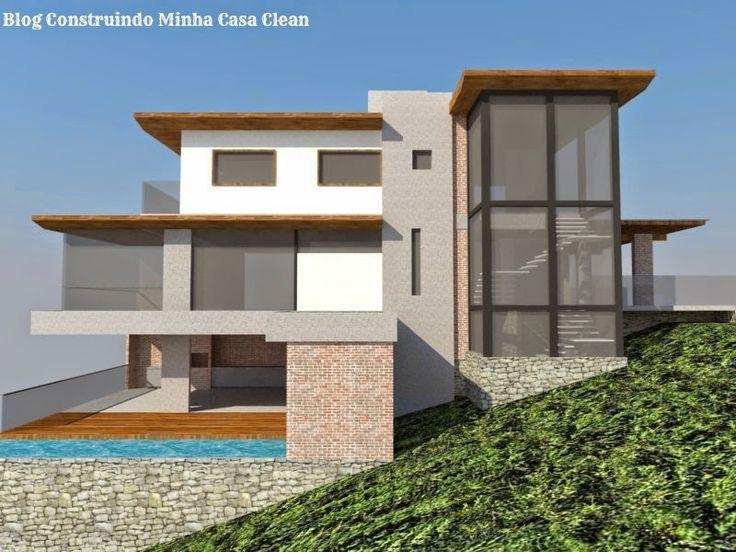 Fachadas de casas em terrenos em declive como construir - Casa con terreno ...