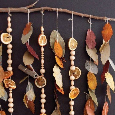 Natural Wind Chime with beads, shells and natural objects (no tutorial, just picture) idea from Choices Family Daycare