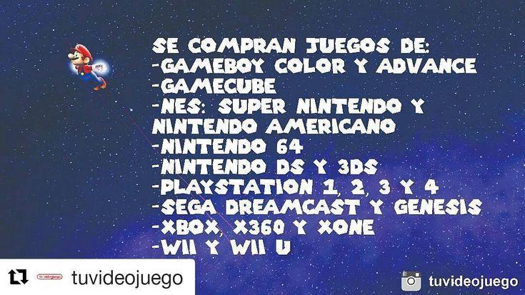 #Repost @tuvideojuego (@get_repost)  Se compran juegos originales de las siguientes consolas: -Nintendo 64 -Gamecube -Wii y Wii U -NES: Super Nintendo y Nintendo Americano -Gameboy Advance y Color -Nintendo DS y 3DS -Sega Genesis y Dreamcast -Xbox X360 y XOne -Playstation 1 2 3 4 y PSP - #Videojuego #Venta #Compra #Trueque #Publicidad #Valencia #SanDiego #Naguanagua #Carabobo #Venezuela #Nintendo #Gameboy #Gamecube #SuperNintendo #Nintendo64 #NintendoDS #Playstation #Xbox #Wii Pub 13