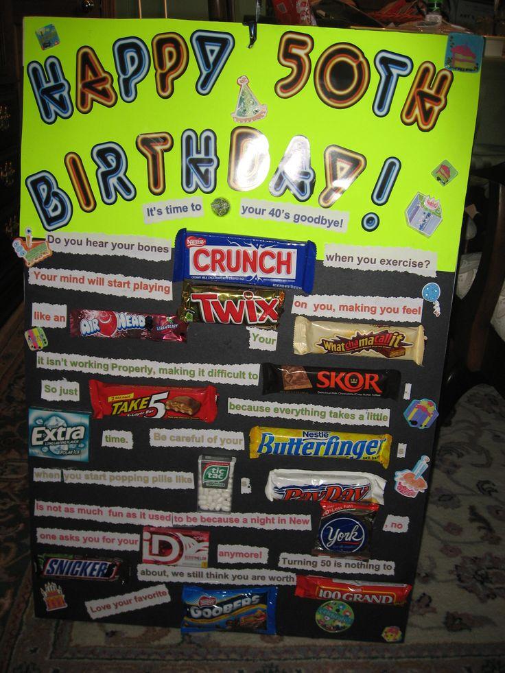50th Birthday Candy Card Atletischsport