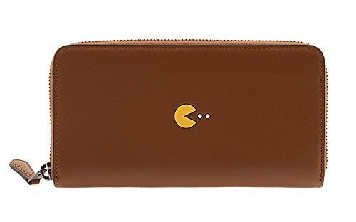 New Trending Purses: Coach PAC-MAN Calf Leather Accordion Wallet, F55736 (Saddle). Coach PAC-MAN Calf Leather Accordion Wallet, F55736 (Saddle)   Special Offer: $79.99      422 Reviews Special COACH X PAC MAN collection! This is the first collaboration collaboration! Good ease of use with high-quality leather, stylish long wallet! Designed for simple PAC-man pattern is...