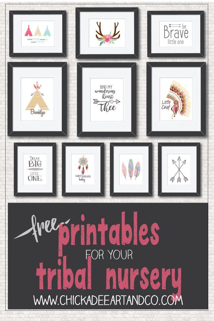 Free Tribal Nursery Printables