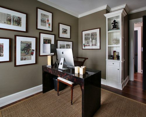 home office paint color ideas Farrow and Ball's Mouse's back | WildFeast NYC | Home