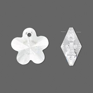 Swarovski® 18mm crystal clear flower pendant pk1