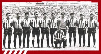 "Séptimo Campeonato:  1964-1965 [Chivas - Nacional] Guadalajara: ""Coco"" Rodríguez, ""Cura"" Chaires, ""Tigre"" Sepúlveda, ""Jamaicón"" Villegas, ""Bigoton"" Jasso, Agustín Moreno, Javier Barba, ""Chololo"" Díaz, Chava Reyes, Héctor Hernández y ""Cabo"" Valdivia,"