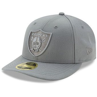 new arrival 019fe 2872a Oakland Raiders New Era Storm Gray League Basic Low Profile 59FIFTY  Structured Hat