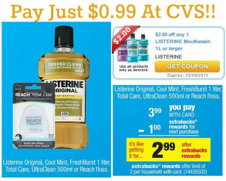 High Value $2/1 Listerine Coupon Makes It Only $0.99 At CVS! on http://www.moneysavingmadness.com
