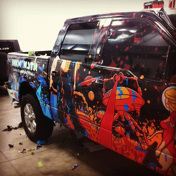 New Ink Monstr Truck. #truckwrap, #design, #inkmonstr.