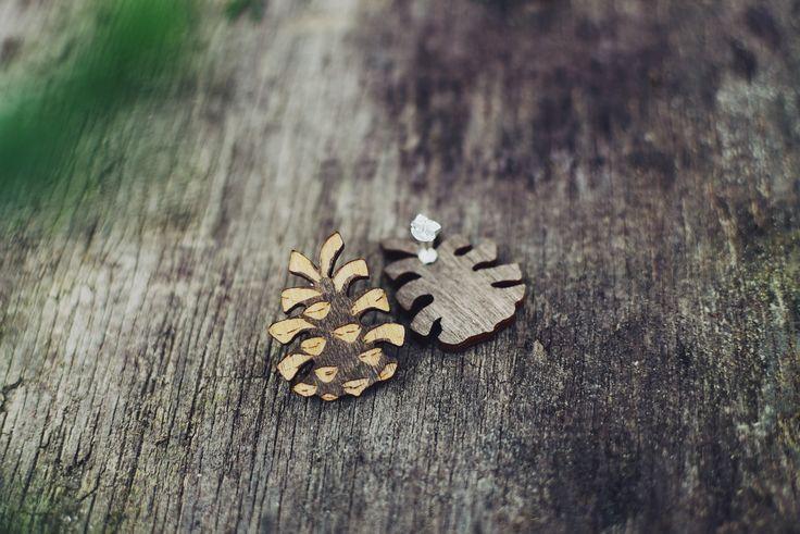 Käpynappikorvakorut / pineconestuds