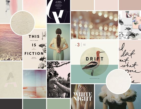 Lovely, soft moodboard by In Spaces Between