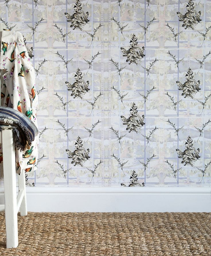Thistles luxury wallpaper, coated non-woven,180gsm, 52cm w x 10m roll. #luxury #wallpaper #bespoke #thistles
