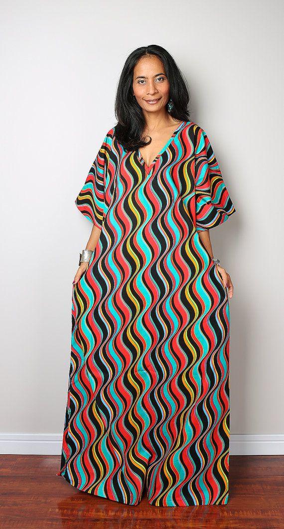 cfba91791dfb1 Caftan Dress / Maxi Dress / African Dress : Bohemian by Nuichan | Hebrew  clothing | African dress patterns, African dress, African fashion