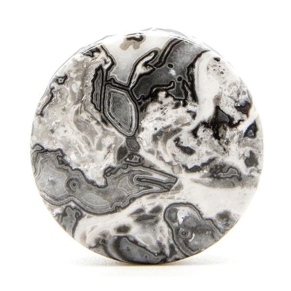 Picasso Jasper Stone Plug - Custom Flesh Plugs & Gauges, Alternative, Tattoo - Stone Plugs - 1