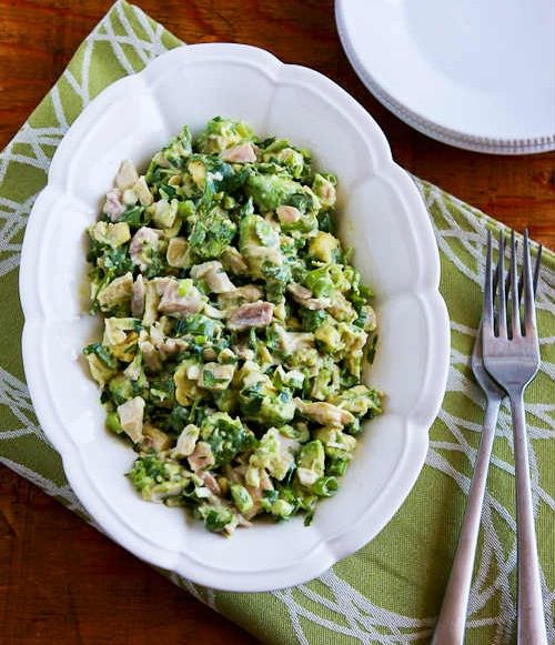 Chicken and Avocado Salad with Lime and Cilantro-