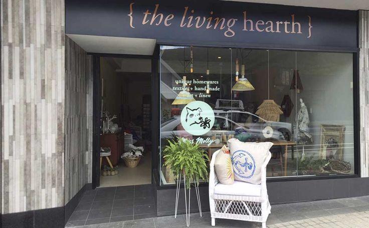 The Living Hearth a unique homewares, textiles, handmade art & linen shop in Thirroul.