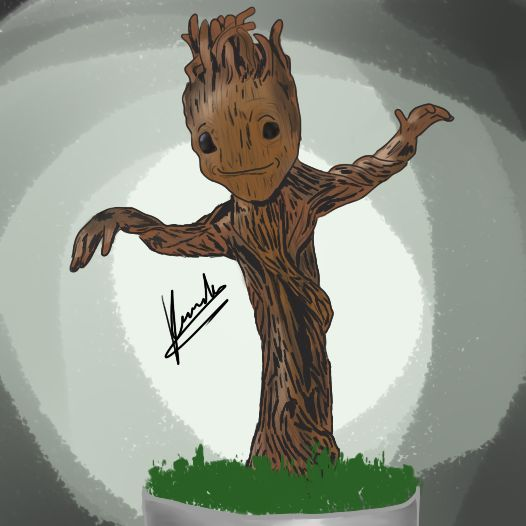 #Baby #Groot  #Drawing #Painting #Draw #Paint #Art #Artistic #Picture #Graphics #Marvel #Comic #Dance #GuardianesDeLaGalaxia #GuardiansOfTheGalaxy