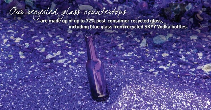 Recycled #glass #countertops from #GraniteTransformations.