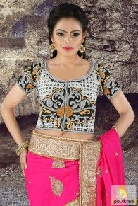 Black Color Stitched Blouse Online  #blouse, #designerblouse Pavitraa New Offer: Flat 15% Off On Designer Blouse Products Category Only Use Coupon Code: DB15 Offer Valid : 24 May 2016 to Till 26 May 2016 more: http://www.pavitraa.in/store/designer-blouse/