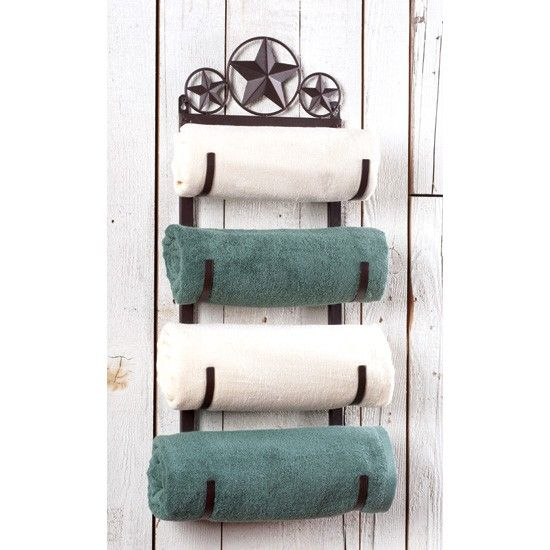 Metal Star Towel Rack-also available with a horse!