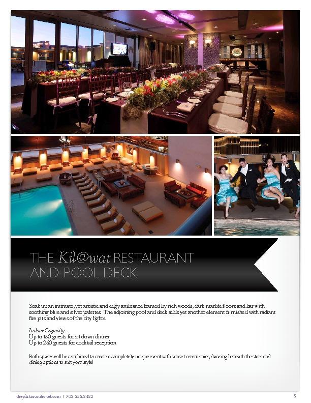 platinum hotel las vegas restaurant