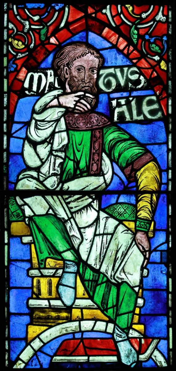 Methuselah depicted in the stained glass created for Canterbury Cathedral by some of Europe's greatest medieval artists.
