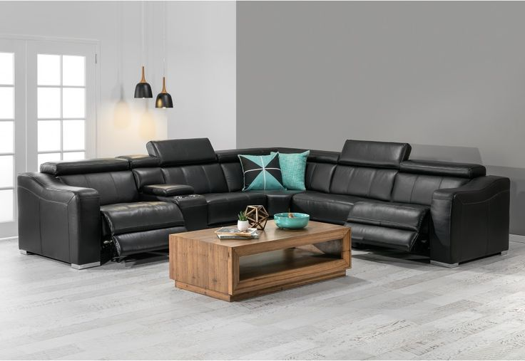 Michelin Leather Corner Lounge With Electric Recliners