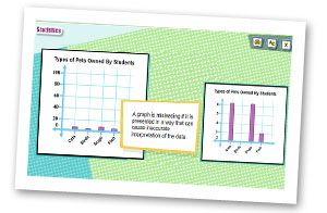 Eighth grade math lessons are presented by cool animation covering math standards at the student's pace!