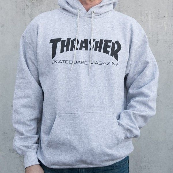 Thrasher Skate Mag Hood ❤ liked on Polyvore featuring tops, hoodies, cotton hooded sweatshirt, hoodie top, cotton hoodie, hooded top and logo hoodies